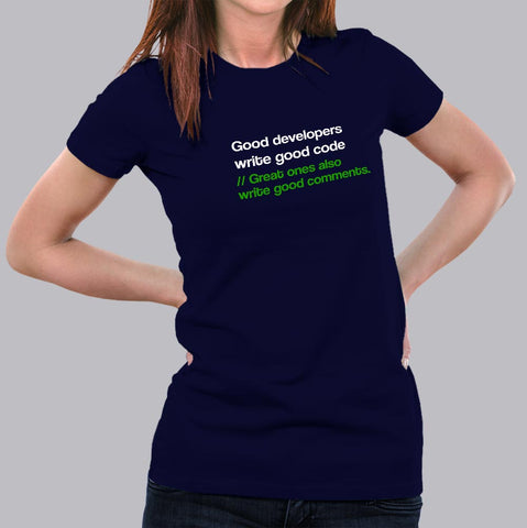 0c65191f Great Developers Funny Programmers T-Shirt For Women – TEEZ.in