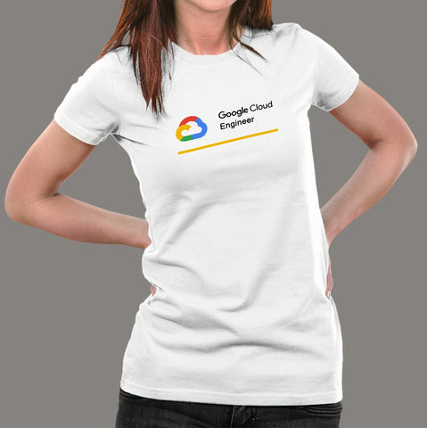 Google Cloud Engineer Women's Profession T-Shirt Online India