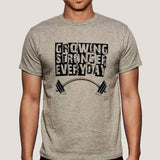 Growing Stronger Everyday - Motivational Men's T-shirt