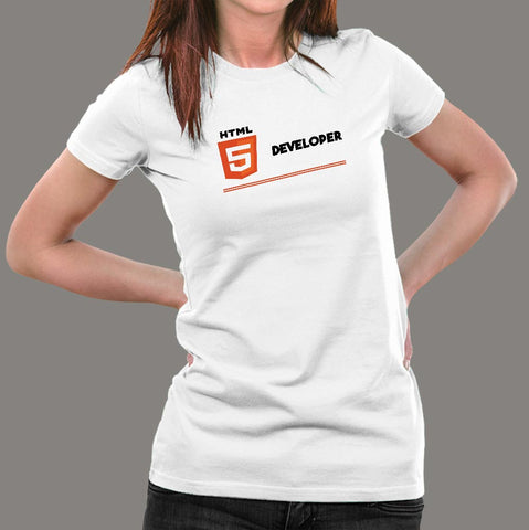 Html Developer Women's Career T-Shirt Online India