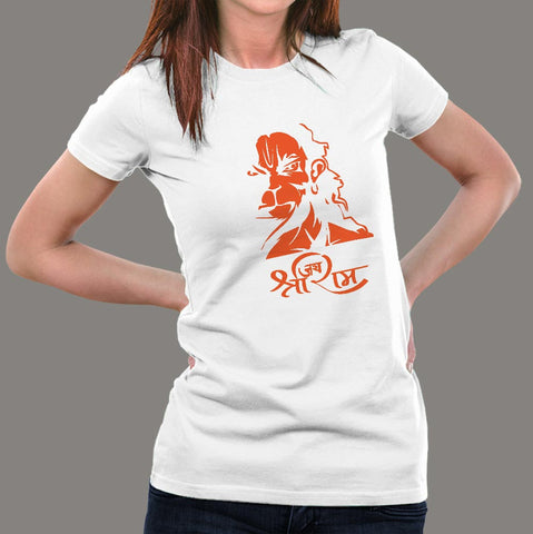 Hanuman Hindu God Jai Shri Ram T-Shirt For Women