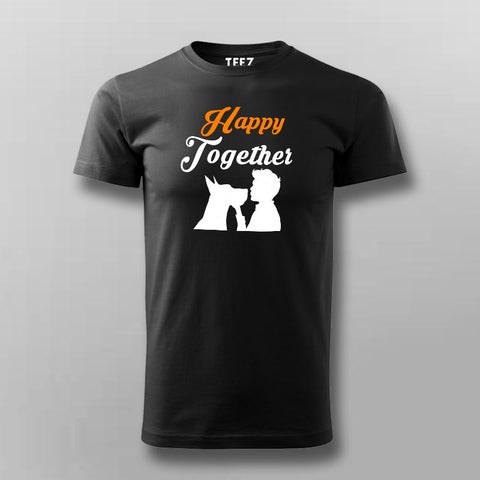 Happy Together Dog Lover T-Shirt For Men Online India
