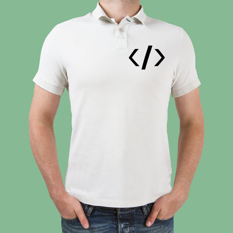 Html Tag Polo T-Shirt For Men Online India