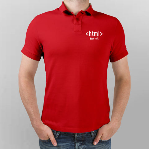 Html Start Fresh Polo T-Shirt For Men Online India