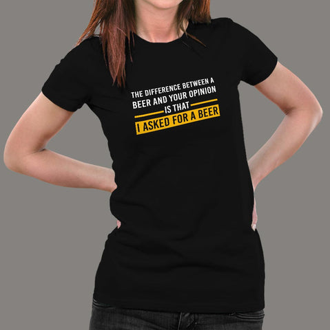 I Asked For A Beer Funny Drinking Hoodies For Women Online India