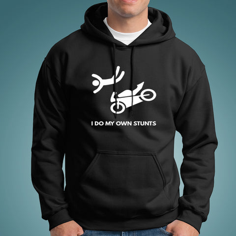 I Do My Own Stunts Motorcycle Hoodies For Men India