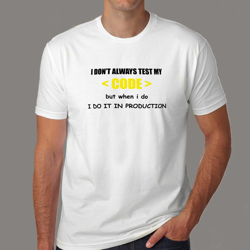 I Don/'t Always Test My Code Funny Coder Programmer Singlet Geek Gift Idea