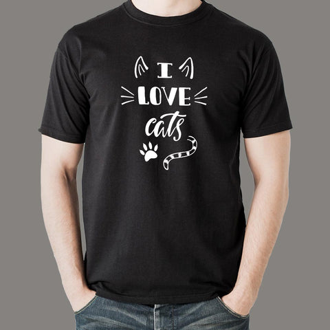 I Love Cats T-Shirt For Men Online India
