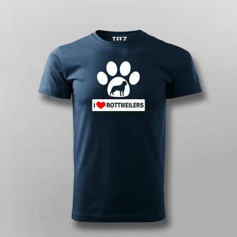 I Love Rottweiler T-Shirt For Men Online India
