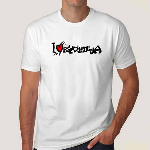 I Love Psychedelia Men's Psychedelic Pot T-shirt