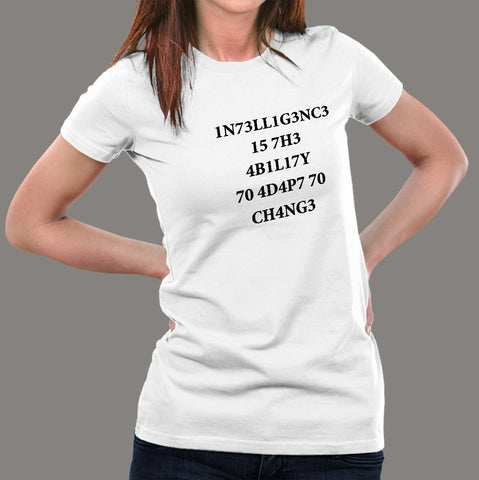 Intelligence Stephen Hawking Women's T-Shirt
