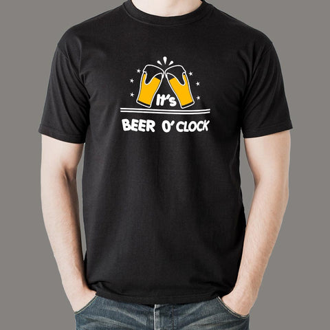 Beer O'Clock Men's Beer T-Shirt Online India
