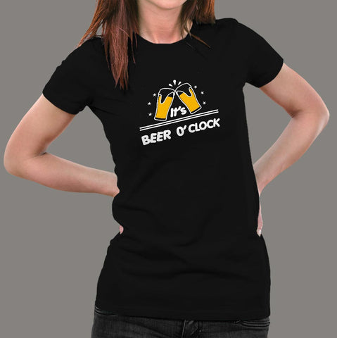 Beer O'Clock Women's Beer T-Shirt Online India