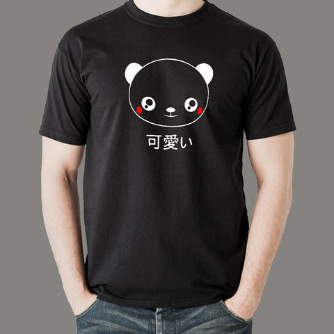 Cute Panda Face Kawaii Japanese Anime T-Shirt For Men