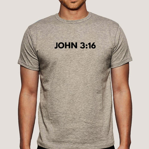 John 3:16 Bible Verse Men's Christian T-shirt