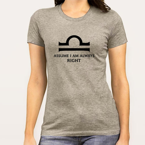 Libra Zodiac Sign T-shirts For Women India