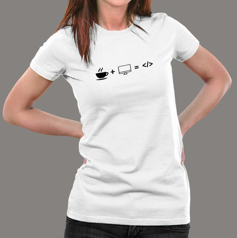 Life of A Coder Funny Programmer T-Shirt For Women Online India