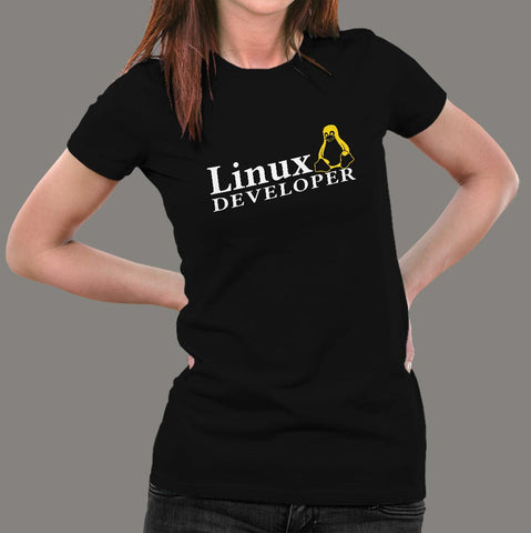 Linux Developer Women's Profession T-Shirt Online India