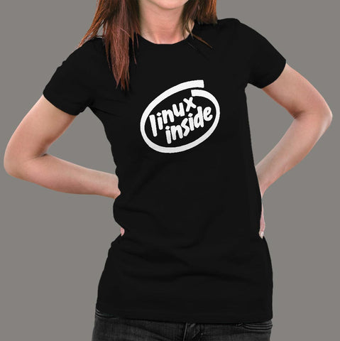Linux Inside T-Shirt For Women Online India