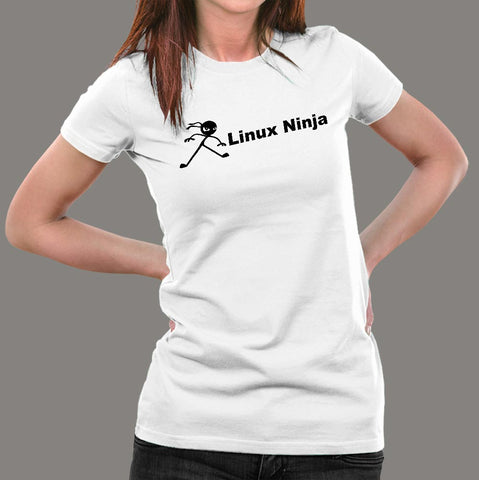 Linux Ninja T-Shirt For Women Online India