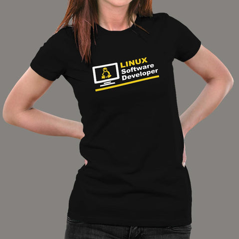 Linux Software Developer Women's Profession T-Shirt Online India