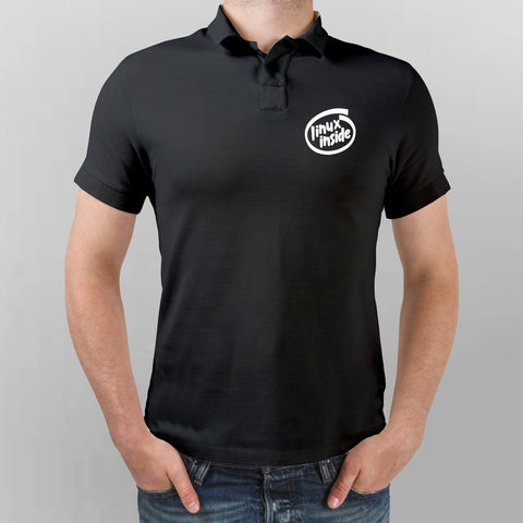 Linux Inside Polo T-Shirt For Men Online India