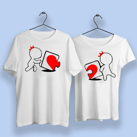 Love Puzzle Couple T Shirts Online India
