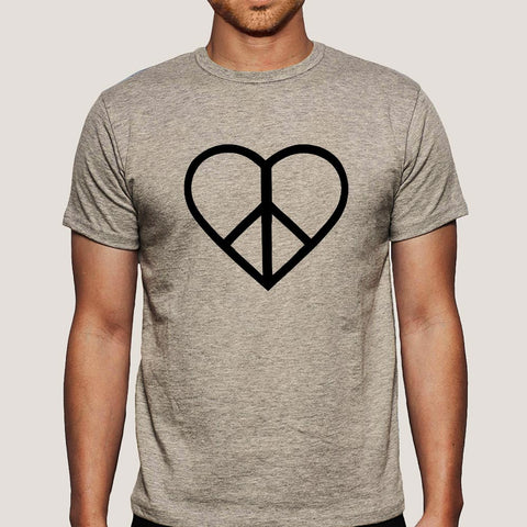 Love and Peace Men's T-shirt At Just Rs 349 On Sale Online India