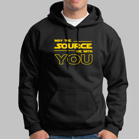 May The Source Be With You! Linux/Starwars Men's Hoodie Online India