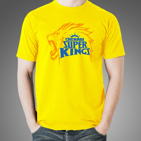 Men's Chennai Super Kings Fan Yellow T-shirt Online India