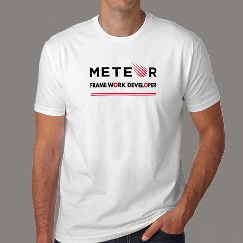 Meteor Framework Developer Men's Profession T-Shirt Online India