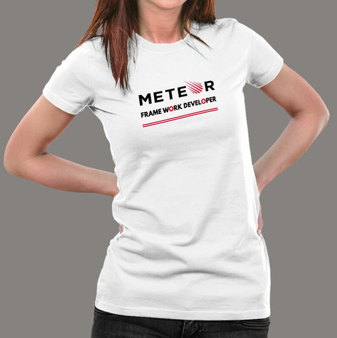 Meteor Framework Developer Women's Profession T-Shirt Online India