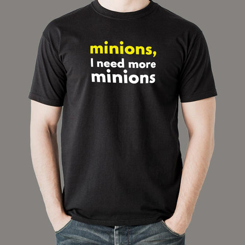 Minions I Need More Minions Men's T-Shirt india