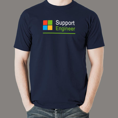 Microsoft Support Engineer Men's Profession T-Shirt Online India