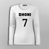 Dhoni Full Sleeve T-Shirt For Women Online