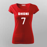 Ms Dhoni T-Shirt For Women