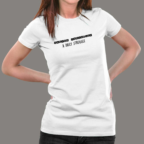Naming Variables A Daily Struggle Funny Programmer T-Shirt For Women Online India