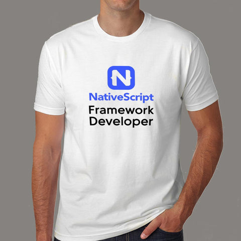NativeScript Framework Developer Men's Profession T-Shirt Online India