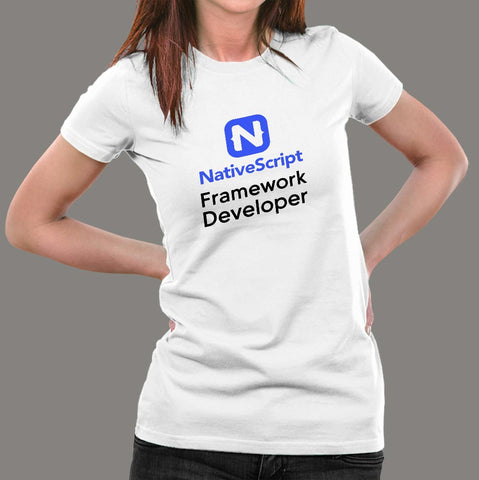 NativeScript Framework Developer Women's Profession T-Shirt Online IndiaNativeScript Framework Developer Women's Profession Long Sleeve T-Shirt Online