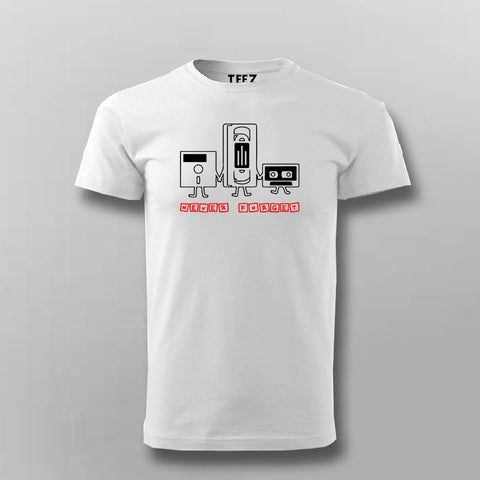 Never Forget Nostalgic Cassette Floppy Disk T-Shirt For Men Online India
