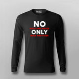 No Hugs And Kisses Only Bugs And Fixes Funny Programmer Fullsleeve T-Shirt For Men Online