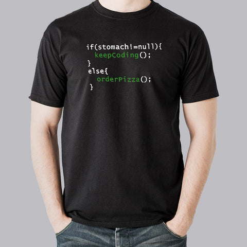 Funny Code - Order Pizza Men's T-shirt for Programmers India