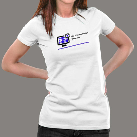 PHP Web Application Developer Women's Profession T-Shirt Online India