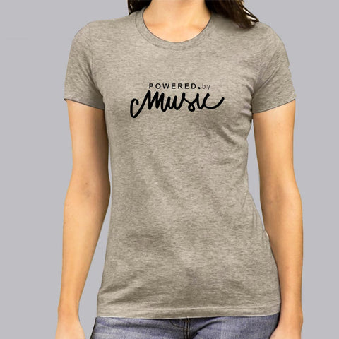 Powered by Music T-Shirt For Women india