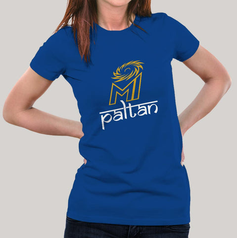Paltan Mumbai Indians MI Fan Jersey  Women's  T-shirt
