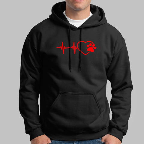 Paw Heartbeat Hoodies For Men