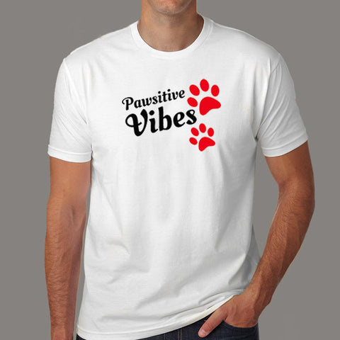 Pawsitive Vibes Men's Animal Lover T-Shirt Online India