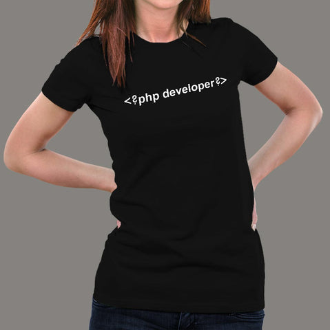 Php Developer T-Shirt For Women Online India