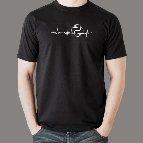 Python Heartbeat T-Shirt For Men Online