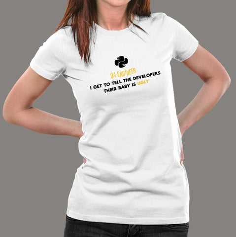 Python QA Engineer Women's Profession T-Shirt Online India